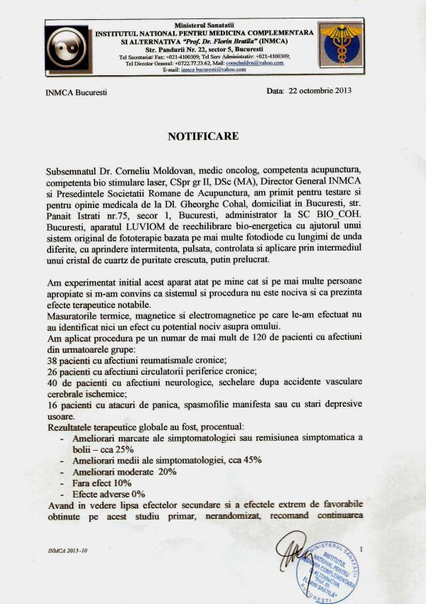 Notificare Institut 001