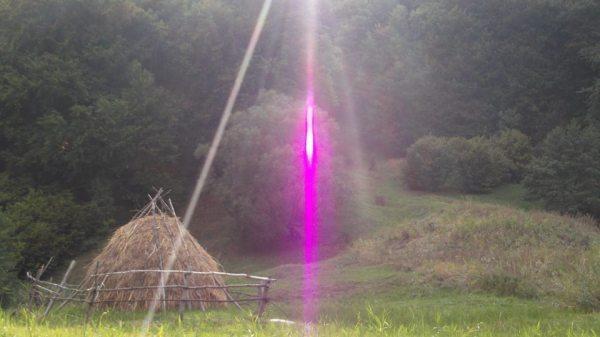Tetraedru de Lumina - violet Raza